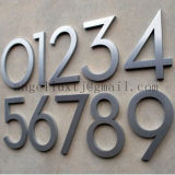 Brosse à lettre 3D en acier inoxydable Lettres métalliques décoratives