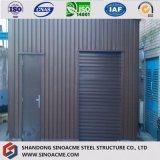 La construcción industrial del bajo costo diseña la vertiente de acero prefabricada del almacenaje