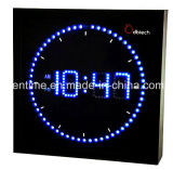 Reloj de pared colorido del LED Digital para la decoración casera