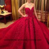 Luxuxballkleid-Stickerei-rote Hochzeits-Brautkleider Z2012