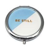 Specchio Pocket rotondo in lega di zinco personalizzato per il ricordo dell'America