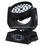 indicatore luminoso capo mobile dello zoom della lavata di 36PCS 10W LED