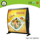 Casella chiara del LED del ristorante della scheda fissata al muro del menu