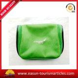 Sacchetto cosmetico di marchio di stampa di colore verde piccolo