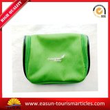 Green Color Printing Logo Petit sac cosmétique