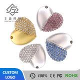 Bijoux en diamants de cristal en forme de coeur cadeau de mariage stick USB