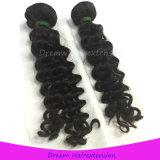 Человеческие волосы девственницы волны оптовой цены Unprocessed индийские глубокие