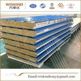 El panel de emparedado de las lanas de roca de la placa de acero para el uso de la azotea