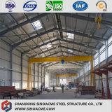 Gruppo di lavoro saldato economico progettato modulare della struttura d'acciaio con la gru