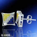 형식 다이아몬드 귀걸이 은 보석 공장 Hotsale