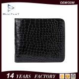Kurze Mappe der Biford Kartenhalter-Dame-Purse Money Klipp Crocodile