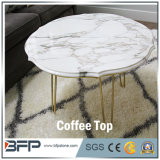 Parte superior redonda da mesa de centro do mármore do corte do costume de China
