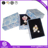 파란 은 고아한 꽃 디자인 귀걸이 펜던트 보석함
