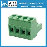 5.0mm 5.08mm сооружают зеленый черный разъем провода блокировочного стержня винта