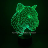 Nuevos Leopard decorativas LED 3D Night Lights / Lámparas para el regalo promocional