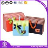 Rectángulo de empaquetado de la bolsa de papel de la ropa del bebé