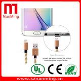 USB alla micro sincronizzazione di dati del USB che carica il cavo tessuto del nylon della maglia