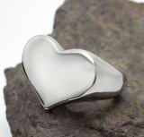 Hart van het Roestvrij staal van de Ring van het paar het Heldere Zilveren