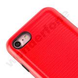 Пластиковый+TPU 2 в 1 случае с Dust-Proof пробка - Красный