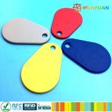 Nueva etiqueta de nylon de Keyfob del keychain de MIFARE DESFire EV1 2K RFID