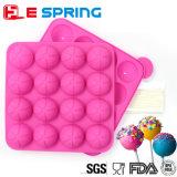 Non-Stick симпатичные 16 отверстий придают квадратную форму прессформе шоколада Lollipop прессформы силикона качества еды