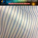 Оптовая подкладка голубой нашивки, ткань пряжи полиэфира покрашенная для костюма (S148.151)