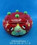 Un insieme di ceramica dipinto a mano di 4 vasi della spezia