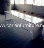 Corian 단단한 지상 식탁 Corian 긴 바 테이블