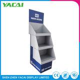 Kundenspezifischer Pappfußboden-Sicherheits-Ausstellung-Papier-Ausstellungsstand für Einzelverkauf