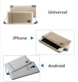 5000mAh doble Cable USB ultra delgado potencia móvil Banco de energía de la tarjeta de bolsillo