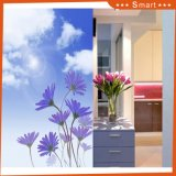 سماء سابعة مع الزهرة ورق جدار لأنّ بيضيّة زخرفة [أيل بينتينغ] (رفض نموذجيّة.: [هإكس-5-034])