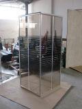 Banheiro Chromo Sliding Grey Glass Shower Room 90