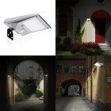 Maak ZonneLamp van de Muur van de Noodsituatie van de Sensor van de 18 LEIDENE de Zonne Lichte Openlucht van de Tuin Lichte Pir- Motie waterdicht