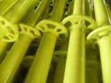 Peint en jaune échafaudage multidirectionnel standard pour les matériaux de construction