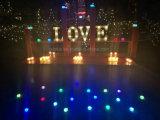 Éclairage LED en plastique de lettre de cadeau de métier de décoration de Walmart DEL