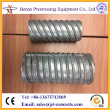 Vorgespanntes galvanisiertes gewölbtes MetallleitungPost-Tensioningsystem