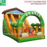 PVCはからかう販売(BJ-S14)のための楽園の屋外の膨脹可能なスライドを