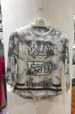 El hombre de la venta caliente de manga larga con capucha de mármol impresión de la camiseta en la ropa Fw-8607
