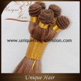 Trame européenne de cheveu de Remy attachée par main