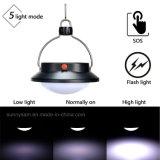 Indicatore luminoso Emergency di campeggio alimentato solare bianco solare portatile della tenda della lanterna di modi 60 LED della lampada 5