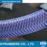 PVC com a tubulação de mangueira reforçada fibra do jardim da mangueira da água