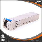 Ricetrasmettitori ottici persi della fibra di costo SFP+ 10G BIDI Modlues Tx 1270nm Rx 1330nm SFP-10G-BX-U-40