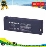 Batterie électrique Emergency rechargeable 2.3ah 12V de bloc d'alimentation d'AGM