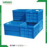 Coffre en plastique logistique d'entreposage en cadre compressible en plastique