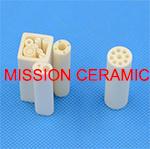 2 fori 4 tubi di ceramica dell'isolante dell'allumina dei fori