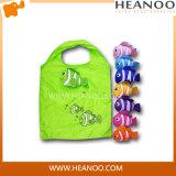 Sacos de compra reusáveis dos peixes do ombro de Eco do punho Foldable colorido da promoção