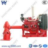 Pompe de lutte contre l'incendie verticale de turbine de Ligne-Arbre de moteur diesel de haute performance