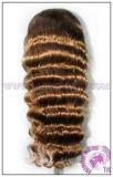 Человеческого волоса кружева парики - глубокую органа кривой