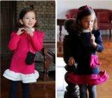 Mädchen-koreanisches Art-Spitze-Kleid