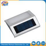 E27 indicatore luminoso esterno placcante della parete solare dell'alluminio LED